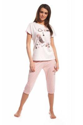 Cornette 638/72 I love summer różowy piżama damska