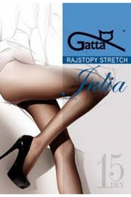 Gatta julia stretch 15 den brązowy rajstopy