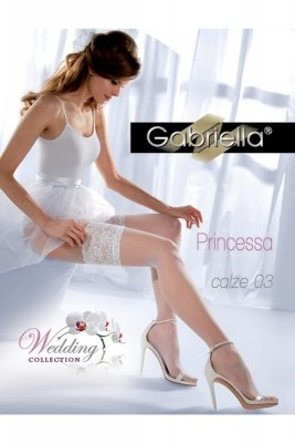Gabriella 187 princessa 03 bianco pończochy