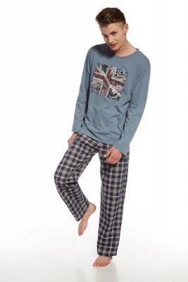 Cornette 553/23 Rock niebiesko melanżowy piżama męska