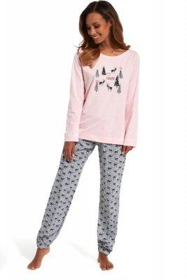 Cornette 627/132 It's snowing różowy piżama damska