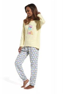 Cornette 625/124 Time to rest żółty piżama damska