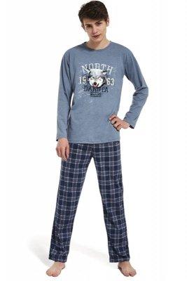 Cornette 553/25 Dakota niebieski melanż piżama męska