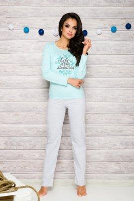 Taro Sylwia 286 niebieski piżama damska
