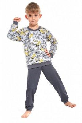 Cornette 593/58 Machine 2 kids szary piżama chłopięca