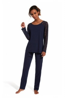 Cornette 150/144 Lena granatowy piżama damska