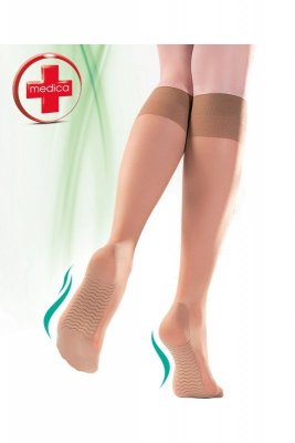 Gabriella 502 massage medica 20 den beżowy podkolanówki