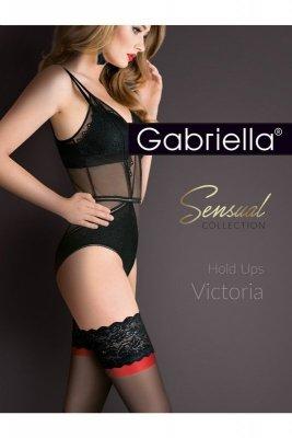 Gabriella 474 victoria nero/red/nero pończochy