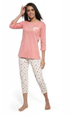 Cornette 602/132 Betty różowy piżama damska