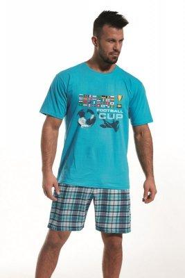 Cornette 326/65 Football cup turkusowy piżama męska
