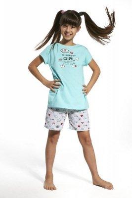 Cornette krótki rękaw 787/56 Blogger gilrl turkusowy piżama dziewczęca