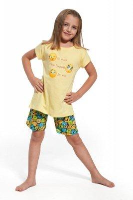 Cornette krótki rękaw 787/58 Smile żółty piżama dziewczęca