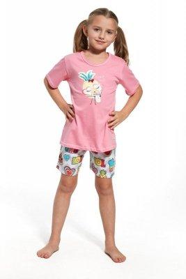 Cornette krótki rękaw 787/55 Lemonade różowy piżama dziewczęca