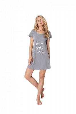 Aruelle Huggy Bear Grey damska koszula nocna