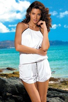 Tunika plażowa Marko Leila Bianco M-312 biała (293)
