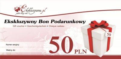 Ekskluzywny Bon Podarunkowy 50 PLN