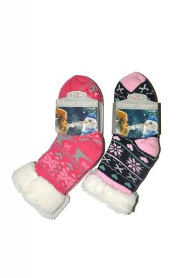 RiSocks Winter Slippers Gwiazdki art.2990 ABS skarpetki