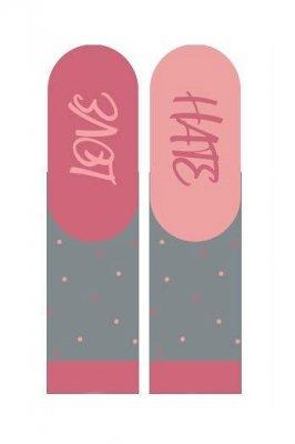 Soxo 3139 Walentynkowe Instrukcje damskie skarpetki