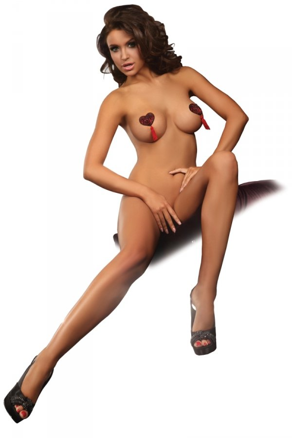 Livia Corsetti Heart Nipple Covers Model 2