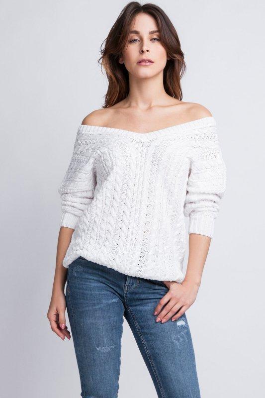 MKMSwetry Kendall SWE 079 biały sweter