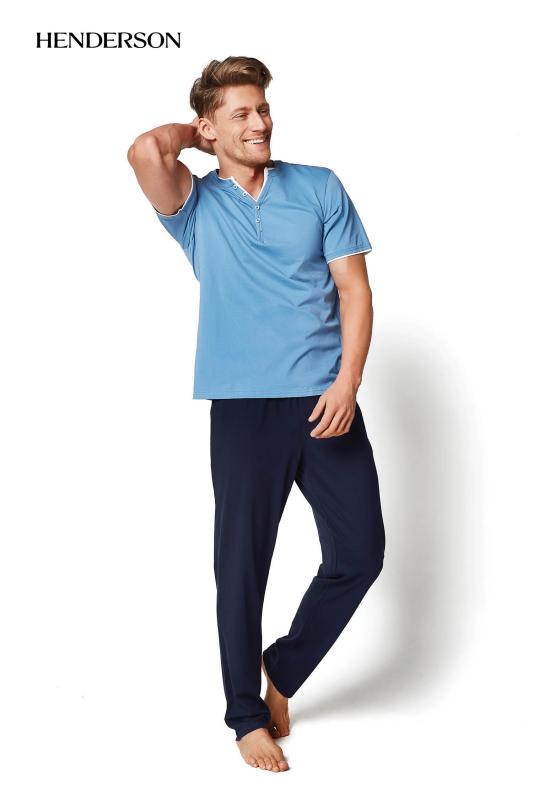 Henderson Mate 34981-59X Niebiesko-granatowa piżama męska