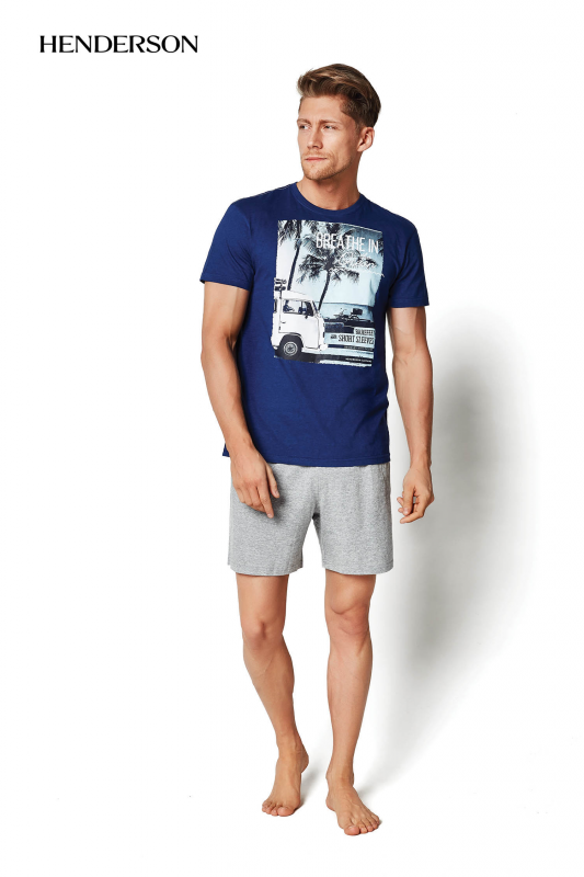 Henderson PJ019 34974-55X Niebieska piżama męska