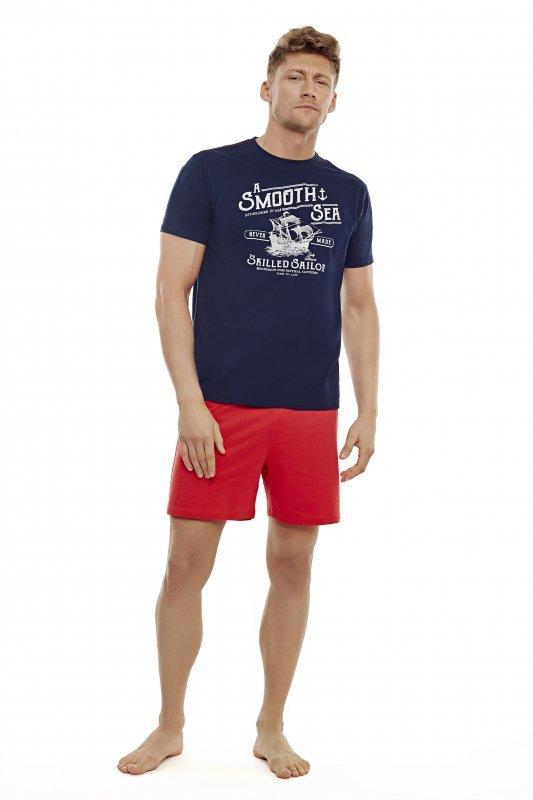 Henderson Edge 35738-59X Granatowo-czerwona piżama męska