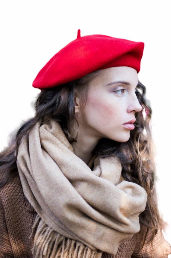 Art of Polo 18386 Basic beret damski