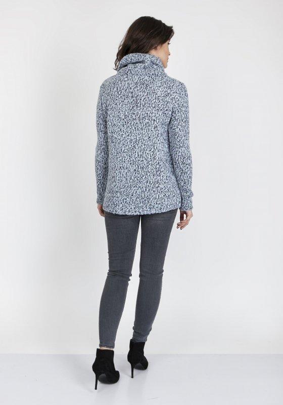 MKMSwetry Nicola SWE 103 Niebieski sweter damski