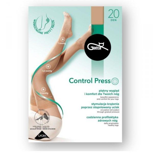 Gatta Control Press czarne pończochy