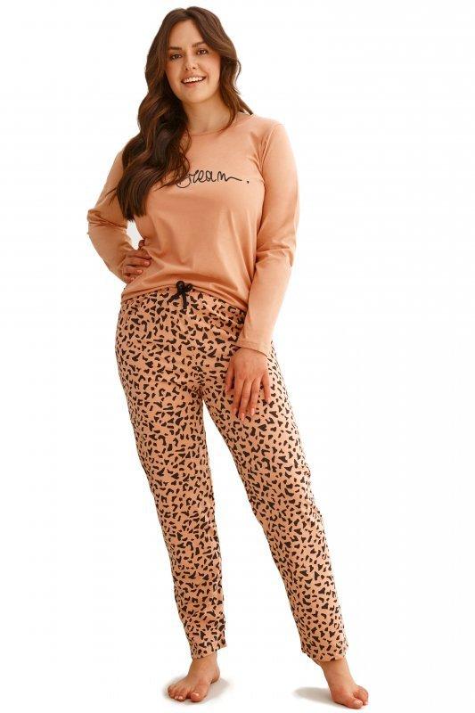 Taro Cora 2608 brązowa piżama damska