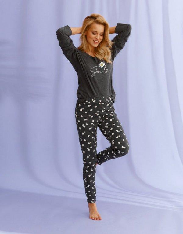 Taro 2572 Nicole grafitowa piżama damska