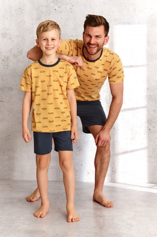 Taro Max 391 Żółta piżama chłopięca