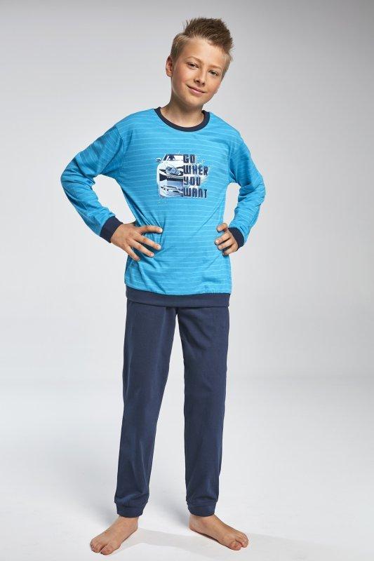 Cornette 966/80 Go turkusowy piżama chłopięca
