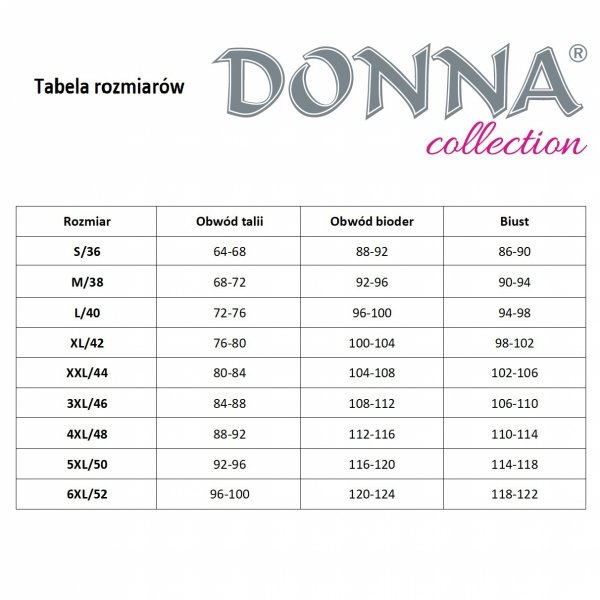 Donna Brenda czarna Koszula nocna