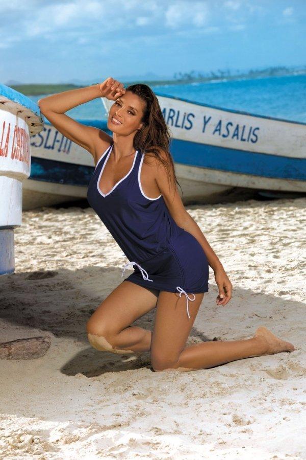 Sukienka plażowa Marko Elsa M-313 Blu Scuro