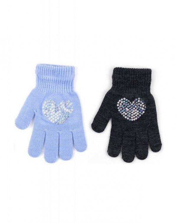 Rak R-165 Cekiny rękawiczki dziewczęce