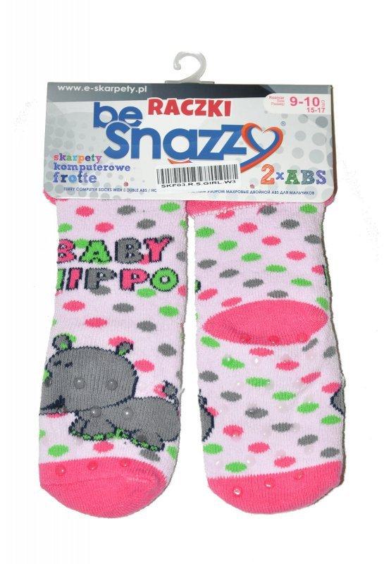 By Snazzy SKF-03 Raczki Frotte Girl skarpetki dziewczęce