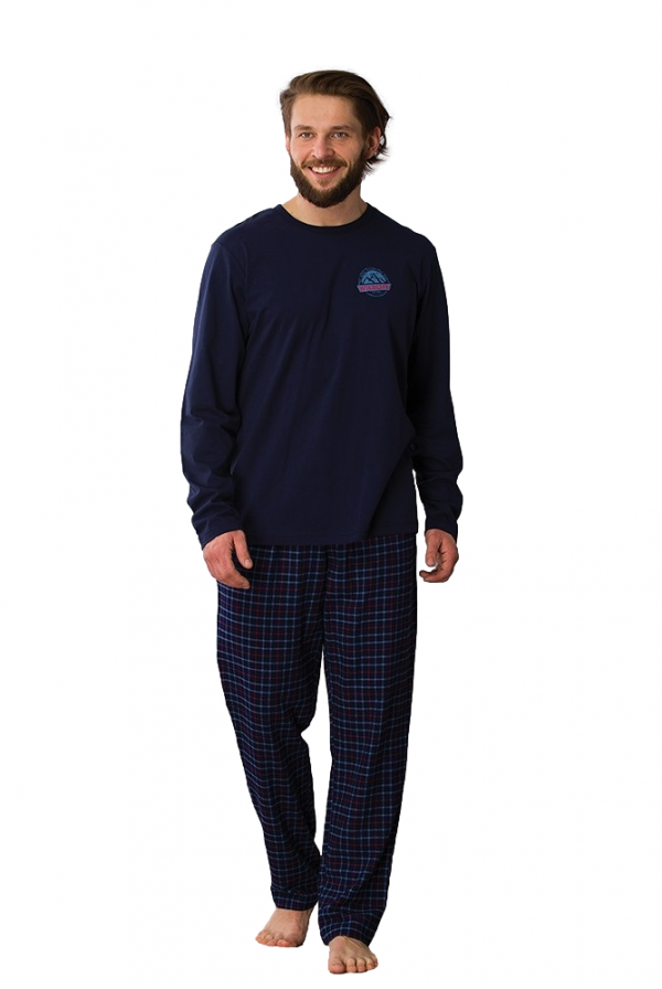 Key MNS 745 B21 piżama męska plus size