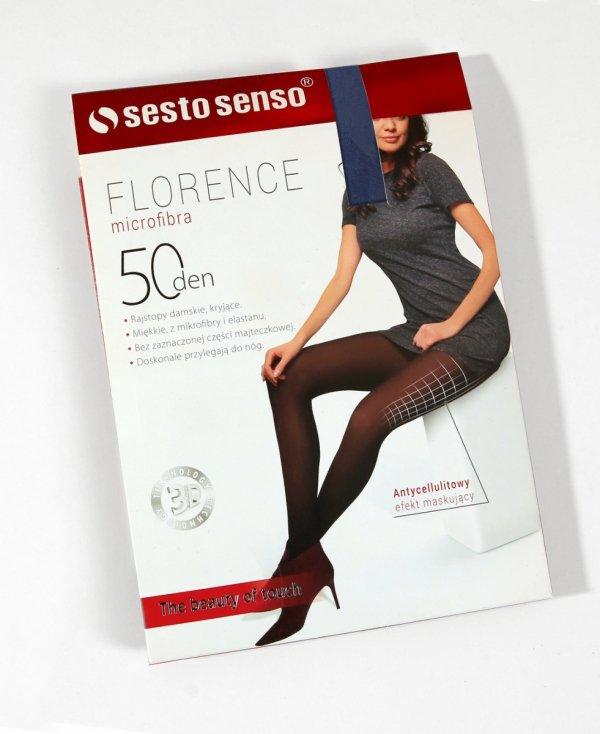 Sesto Senso Florence 50 DEN antycellulitowe granatowe Rajstopy damskie