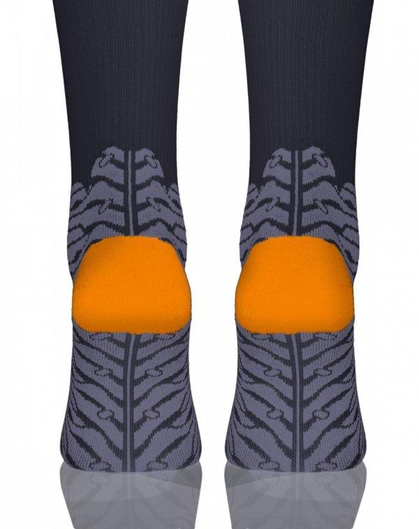Sesto Senso Compression Socks grafitowe Podkolanówki