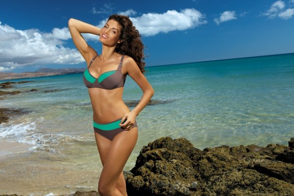 Kostium kąpielowy Marko Nancy Tortora-Maladive M-330 Brązowo-zielony (158)