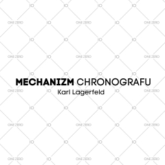 mechanizm z chronografem Karl Lagerfeld