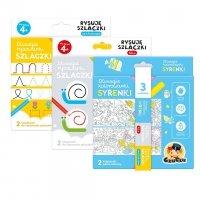 Zestaw 3 Rysowanek Kolorowanki Syrenki + 2x Szlaczki CzuCzu 50150