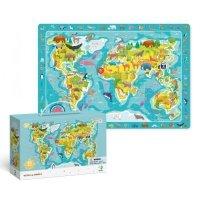 Puzzle Obserwacyjne Mapa Świata 80 el. Dodo 300133