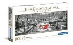 Puzzle Panoramiczne Rower w Amsterdamie 1000 el. Clementoni 39440