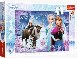 Puzzle Zimowe przygody Frozen 160 el. Trefl 15344