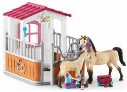 Zagroda dla koni Stajenny + 2 Konie Arabskie Schleich 42369