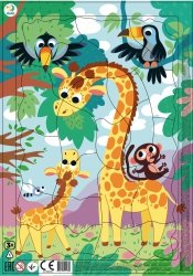 Puzzle Ramkowe Żyrafy 21 el. Dodo 300223