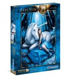 Puzzle Niebieski Księżyc Kolekcja Anne Stokes 1000 el. Clementoni 39462